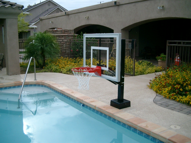 Az hoops arizona 39 s installed basketball goals - Pool basketball ...