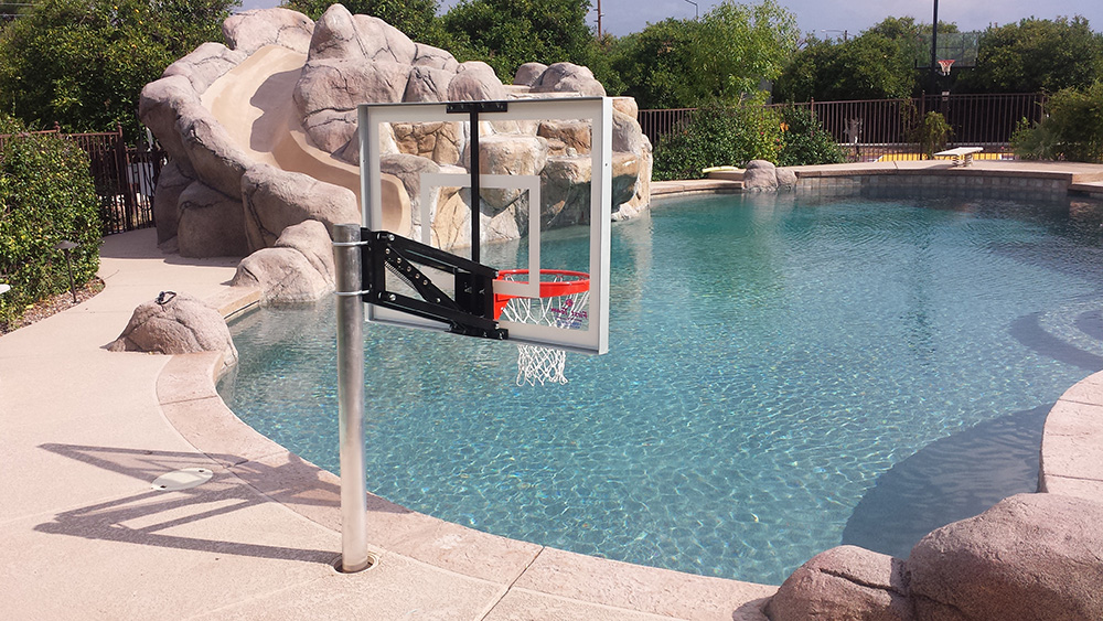 In Ground Basketball Hoop For Swimming Pool Round Designs